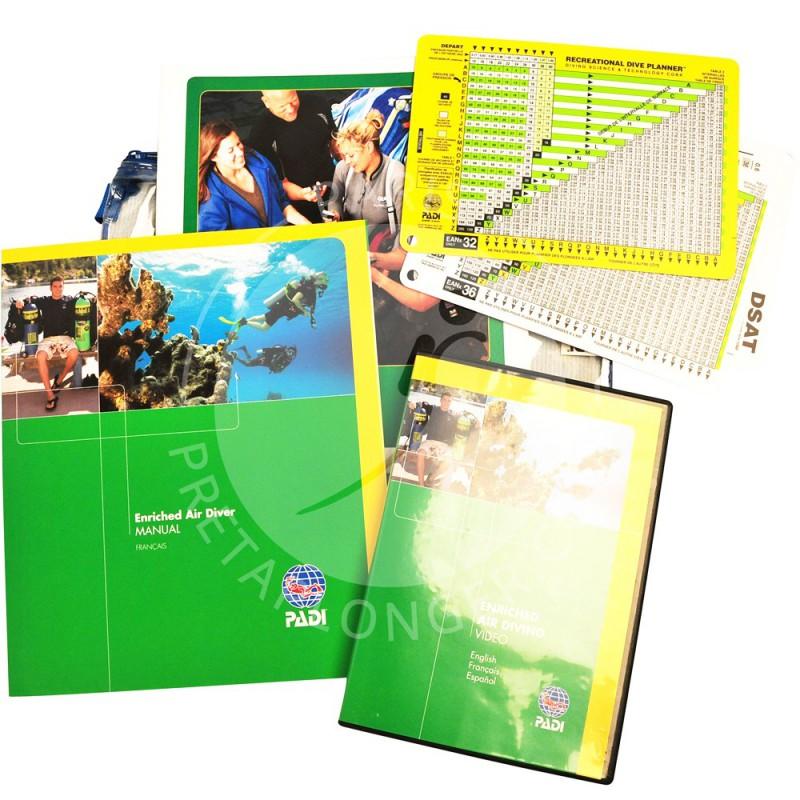 Crewpack PADI spécialité Nitrox avec DVD