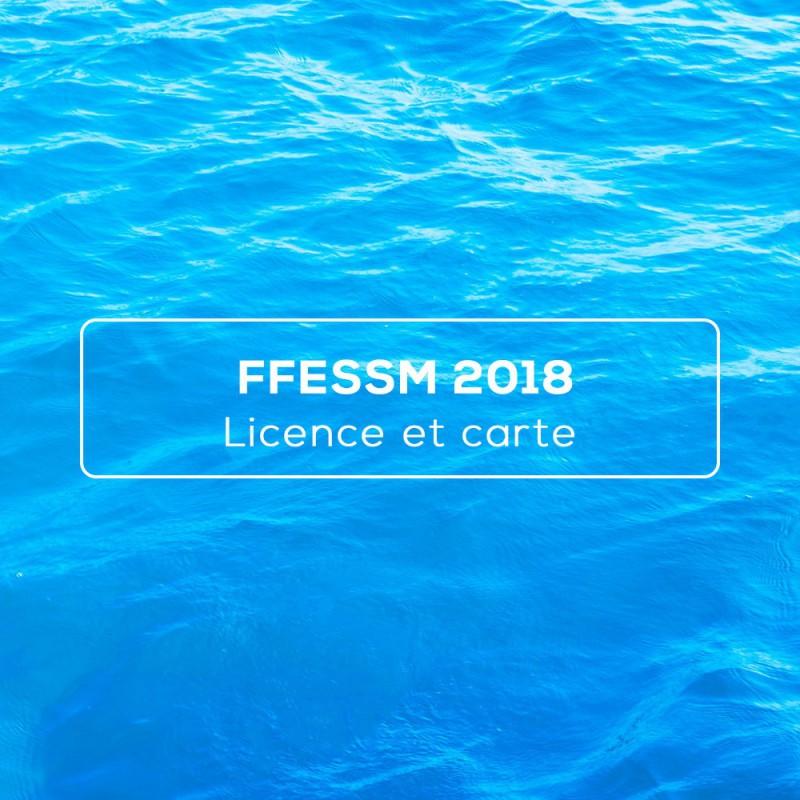 Licence de plongée et carte brevet FFESSM 2018